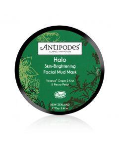 Antipodes: Halo Masque Facial de Boue Éclaircissant pour la Peau