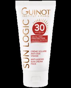 Guinot: Sun Logic Crème Solaire Anti-Âge Visage FPS 30