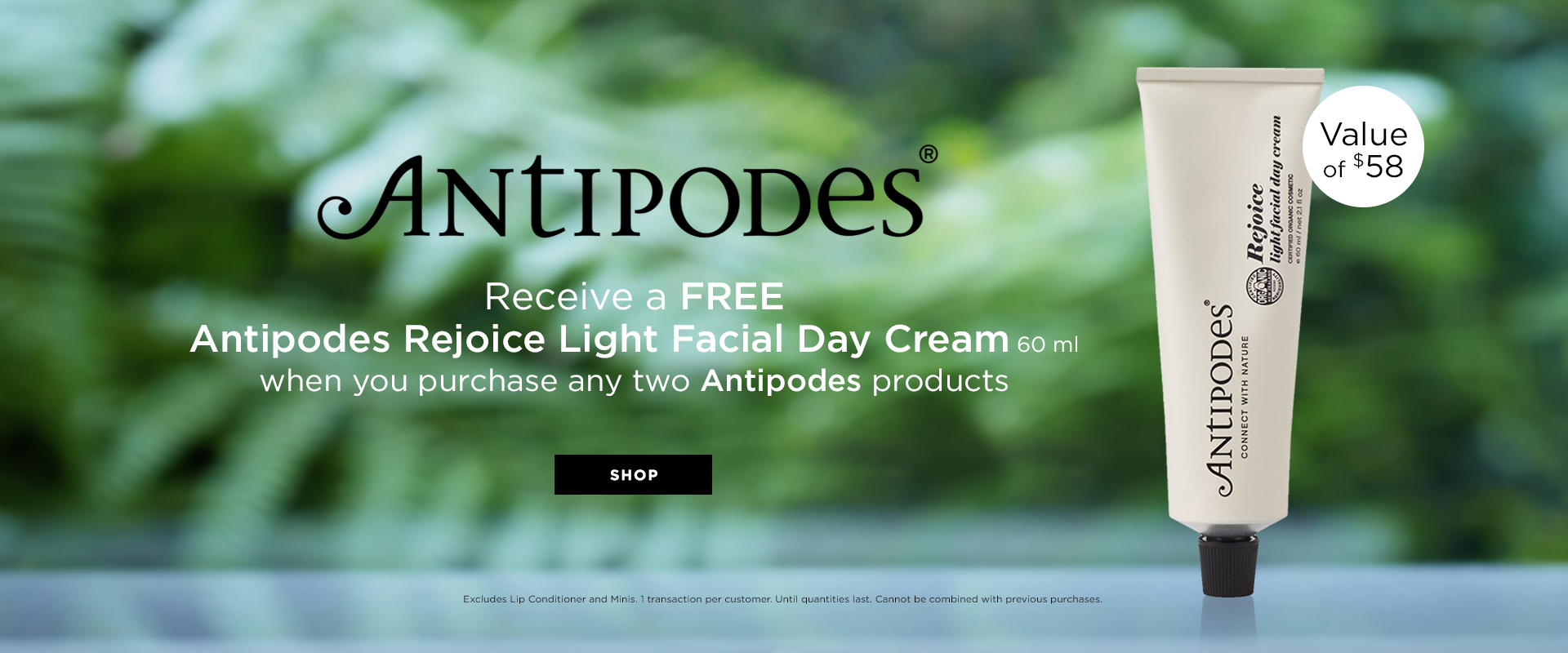 Antipodes Gift with purchase